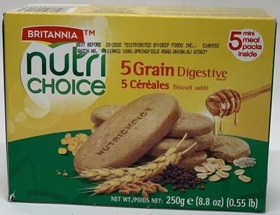 Britannia - Nutri 5 Grain Bisc (250gr)