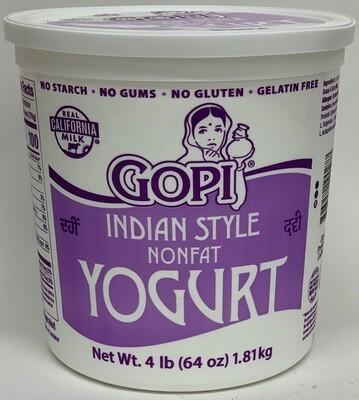 Gopi - Nonfat Yogurt (4lb)