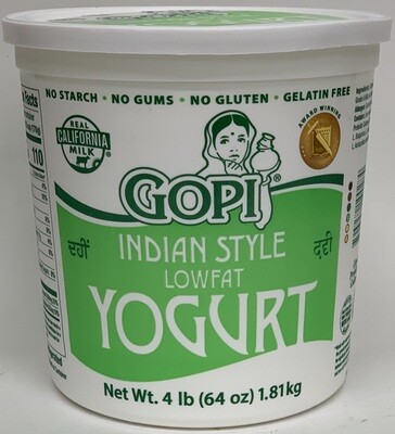 Gopi - Low Fat  2% Yogurt (4lb)