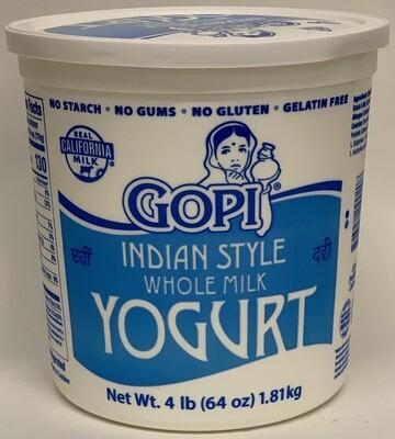 Gopi - Whole Milk Yogurt (4lb)