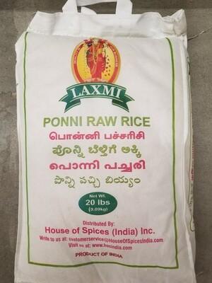 Laxmi - Ponni Raw Rice (20lb)