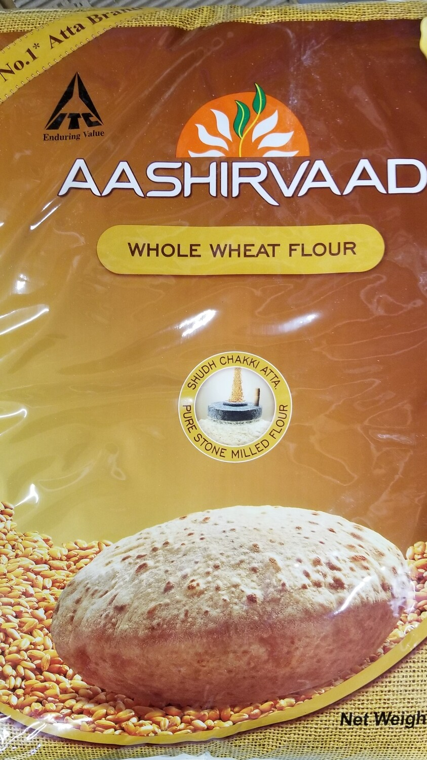Aasirwad Whole Wheat 20lb