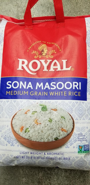 Royal Sona Masoori 20lb