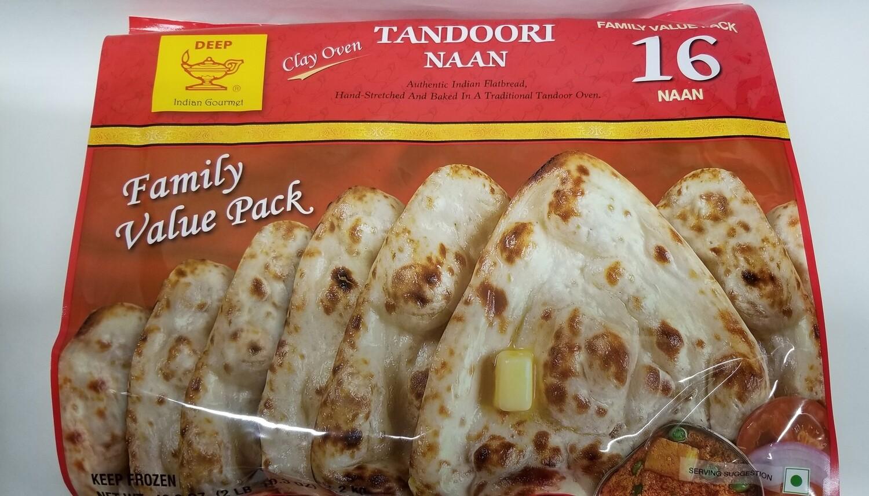 Deep - Tandoori Naan Bulk Family Pack (16pc)