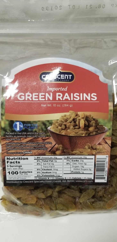 Crescent - Green Raisins (10oz)