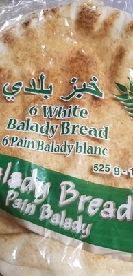 "Pita Bread 10"" 6pc White (525gr)"