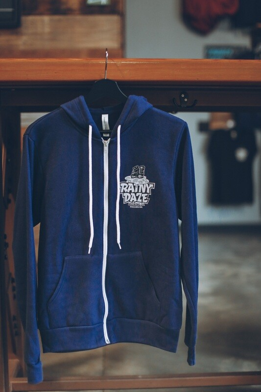 Navy Zip Up Sweatshirt