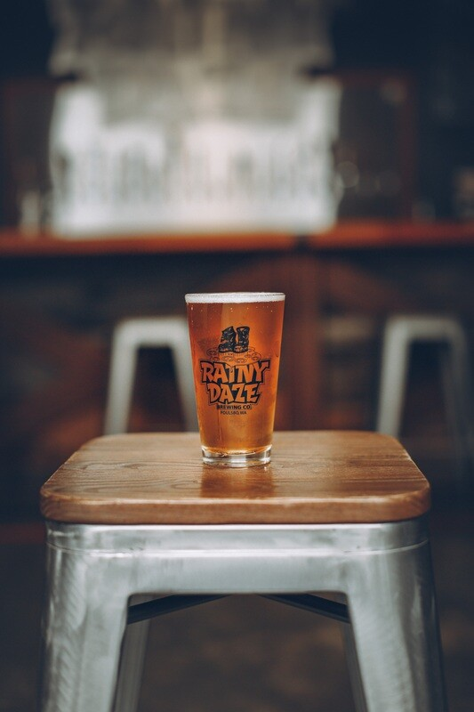 Rainy Daze Logo Pint Glass