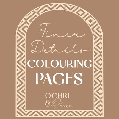 """Finer Details"" Printable Colouring Pages Bundle of 10"