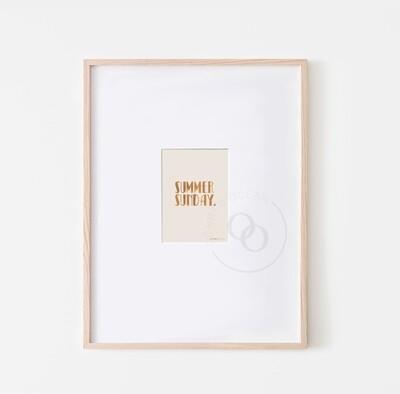 A6 Summer Mini Print