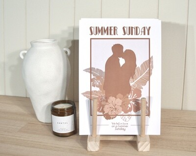 Summer Sunday TROPICAL Print
