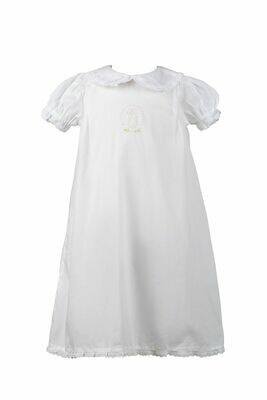 Bea White Layette Gown