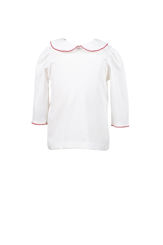 White 3/4 Knit Shirt