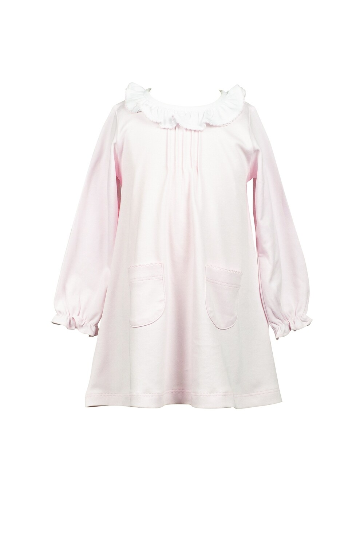 Solid Pink A-line Dress