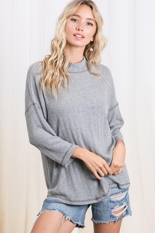 Grey Transition Sweater