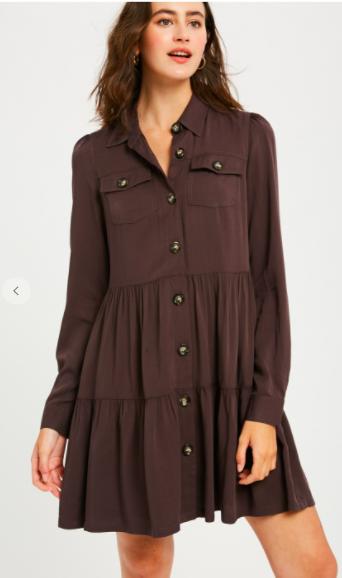 Pebble Button Dress
