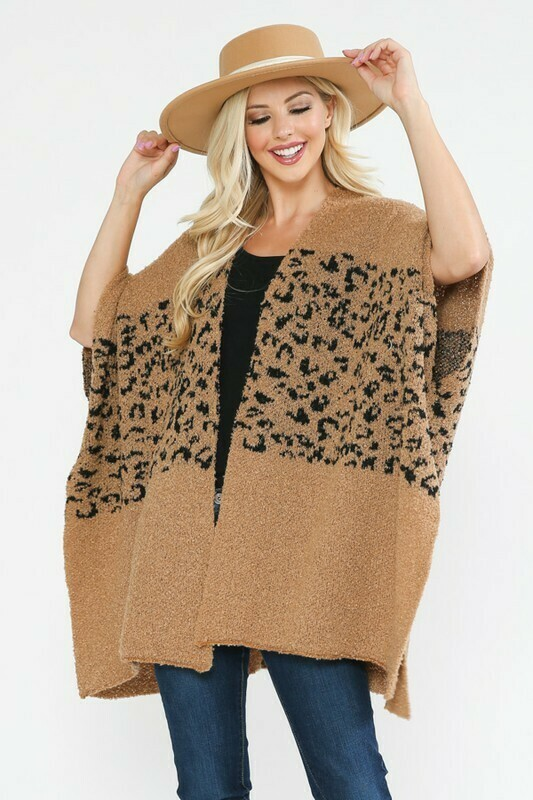 Brown Snow Leopard Poncho