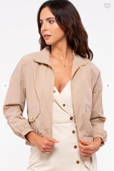 Khaki Windbreaker jacket
