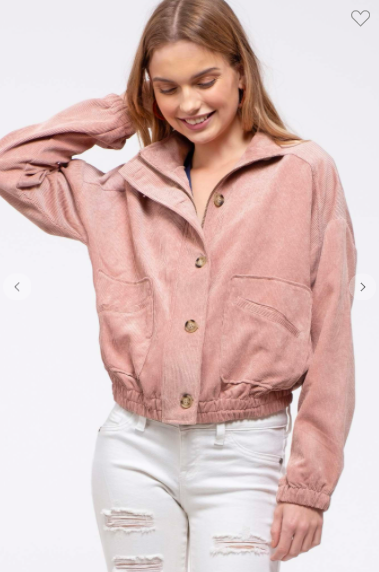 Dusty Pink Woven Solid Jacket
