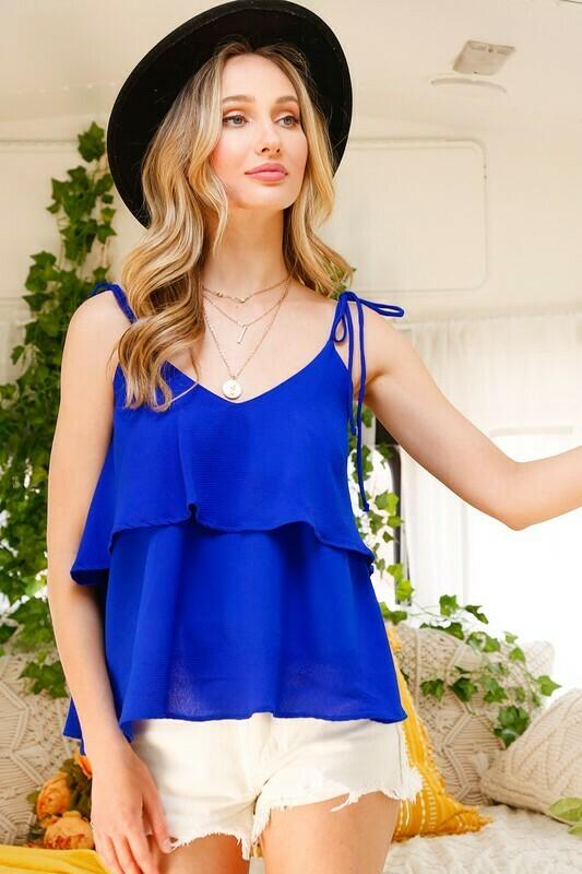 Royal Blue Layered Top
