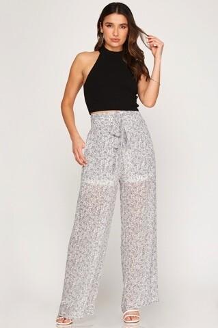 Black and White Paisley Pants