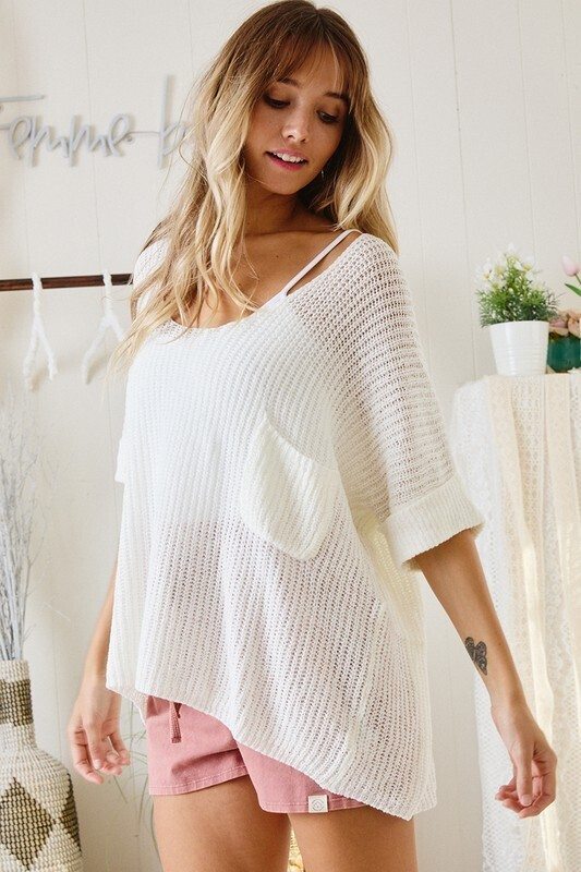 Off White Sheer Sweater