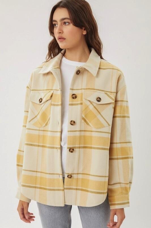 Plaid Long Line Jacket