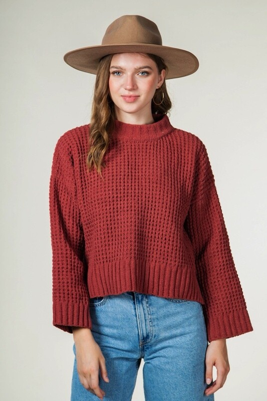 Oversized Waffle Knit Sweater