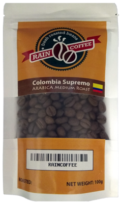 RAINCOFFEE Colombia Supremo Arabica Medium roast