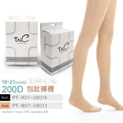 Tric - 200Den 包趾壓力褲襪 膚色 (S/M)