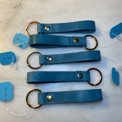Ready Made Keyring Loop - Turquoise