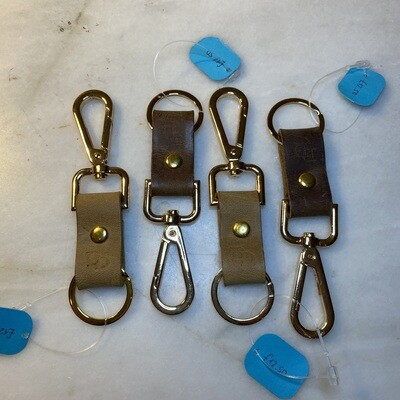 Ready Made Keyring Double - Tan