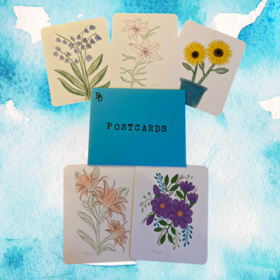Postcard Set - Flowers