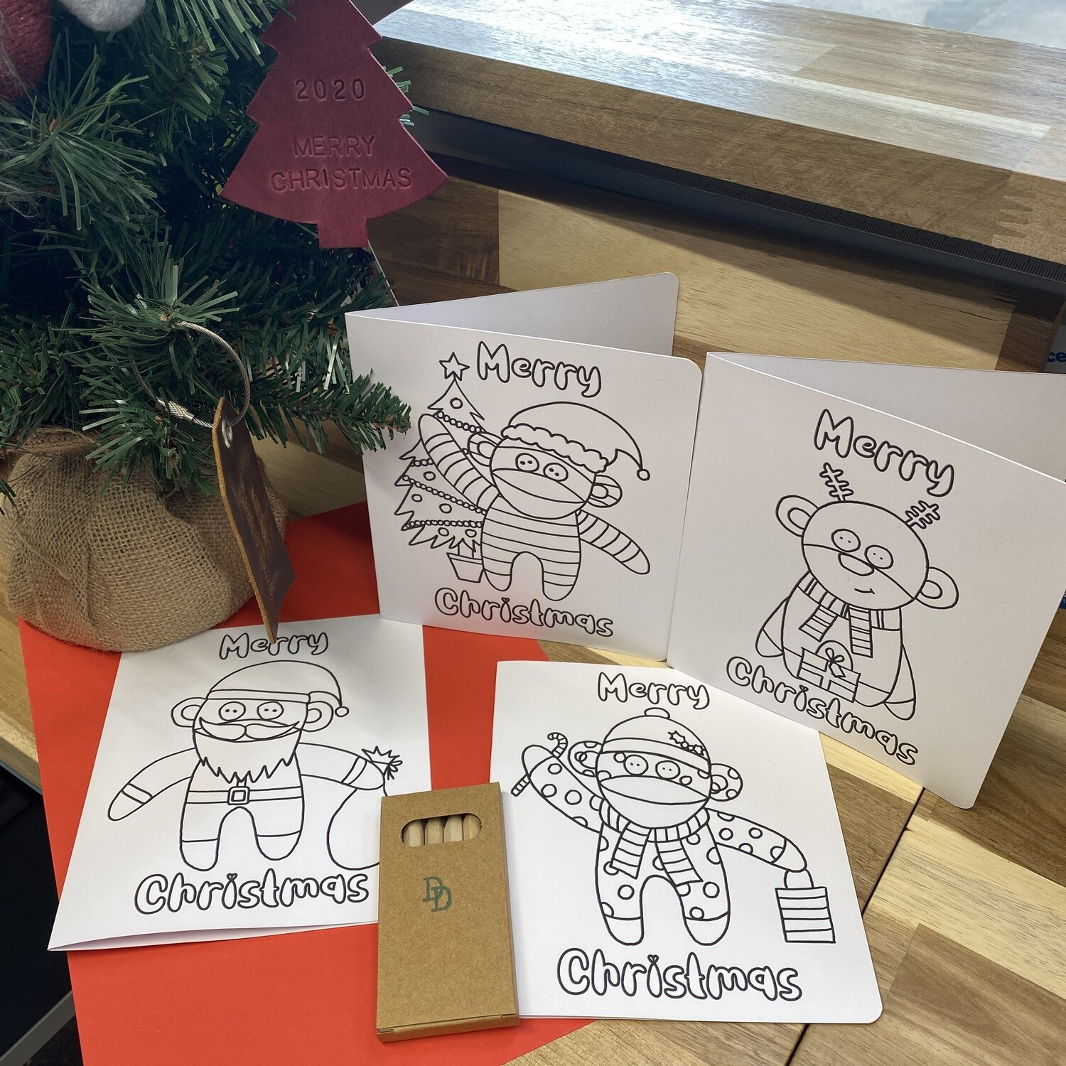 Colour-in Christmas Cards