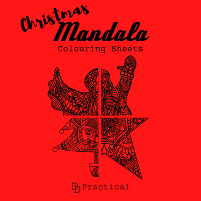 Christmas Mandala Colouring Sheets