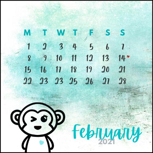 Cheekee Smunkee February Calendar