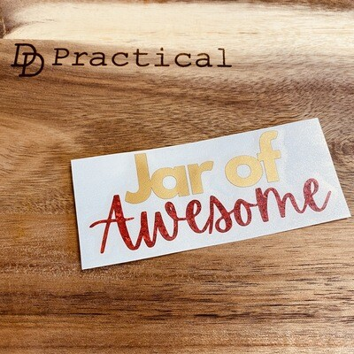 Jar Of Awesome - Sticker