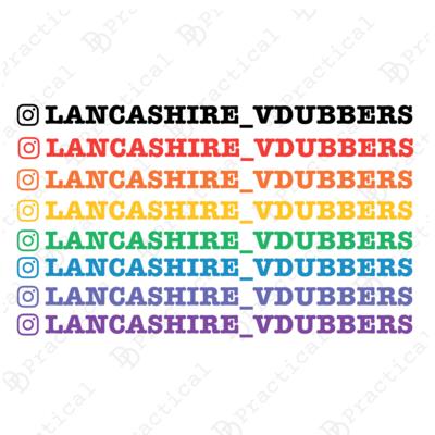 Lancashire VDubbers Official Instagram Stickers