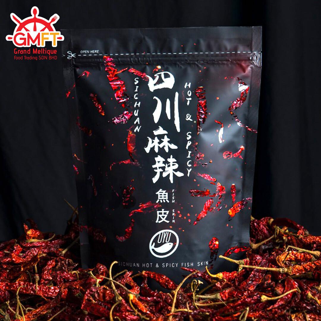 Oyu Sichuan Hot & spicy Fish Skin 100g