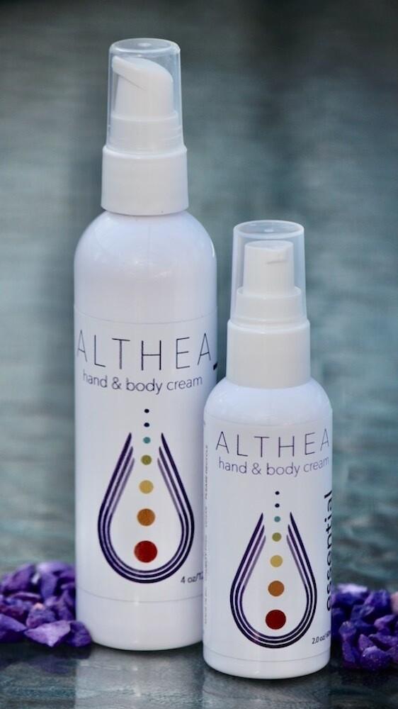 Althea Hand & Body Cream 2oz. or 4 oz.