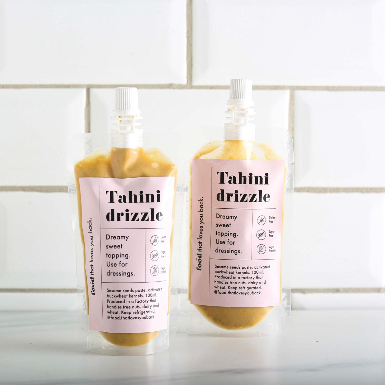 Tahini & buckwheat drizzle