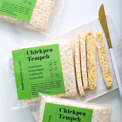 Chickpea tempeh
