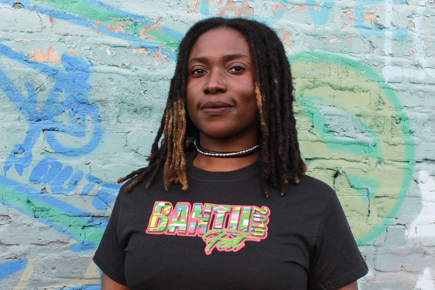 Bantu Fest Multi-colored Throwback Tee SMALL (Unisex)