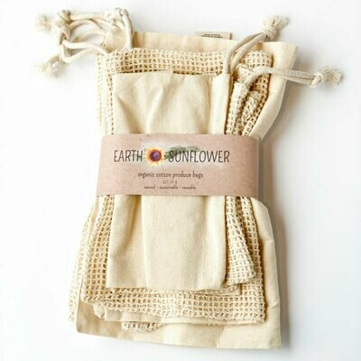 Organic Cotton Produce Bags Variety Pack 00006