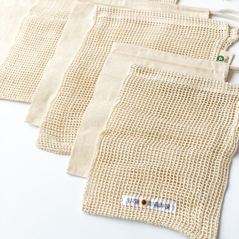 Organic Cotton Produce Bags Variety Pack
