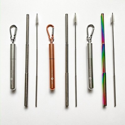 Telescopic Stainless Steel Straws 00013