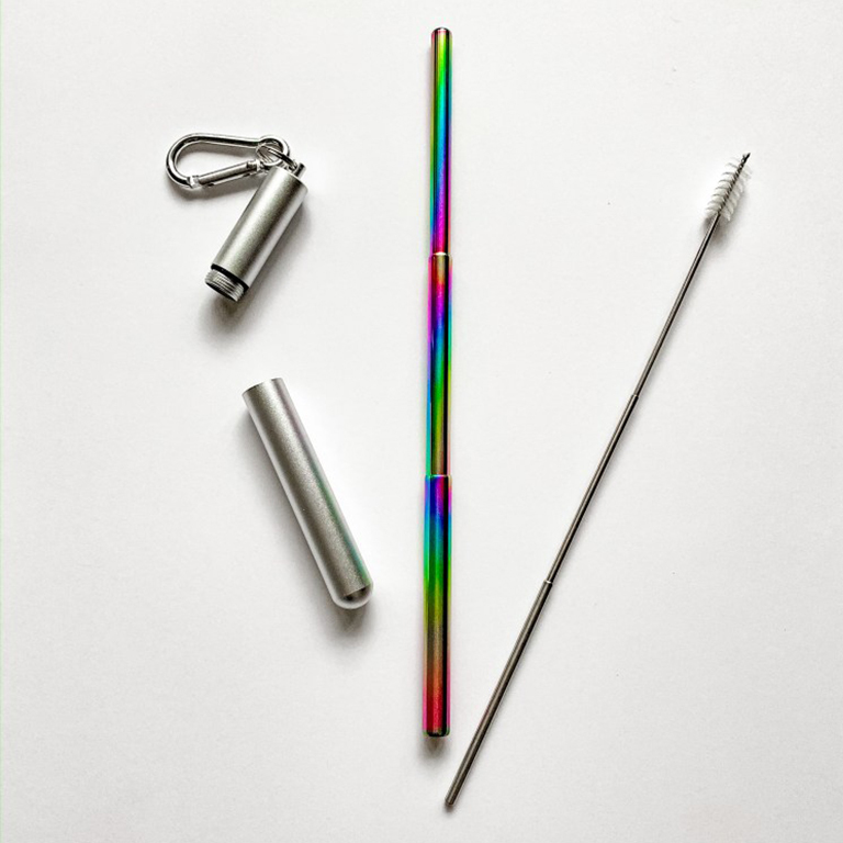 Telescopic Stainless Steel Straws