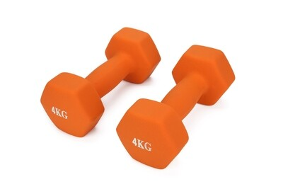 4KG Pair Neo Hex Dumbbells Set Orange