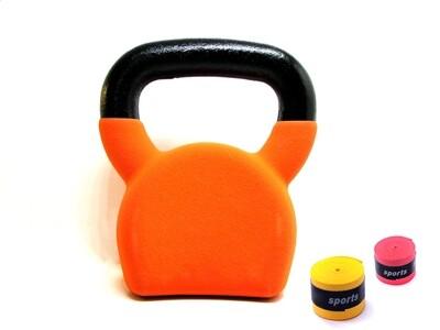 8KG NEO Cast Iron Kettlebell Orange