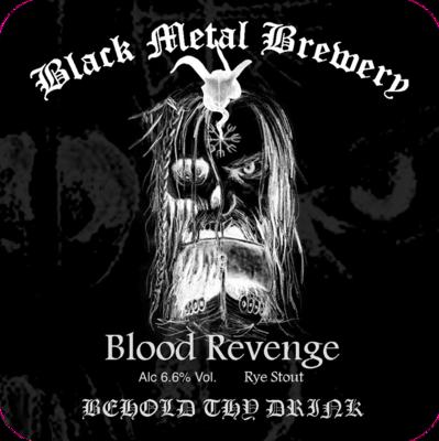 Blood Revenge : Rye Stout : 6.6% ABV : Case of 12 x 500 ml bottles
